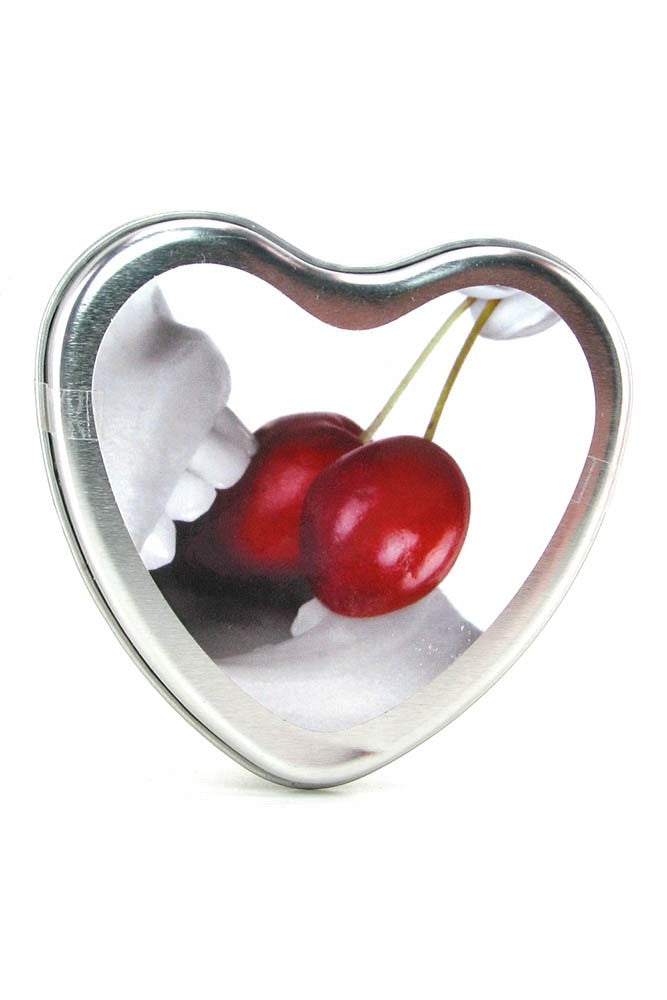 Earthly Body Edible Massage Oil Candle Cherry