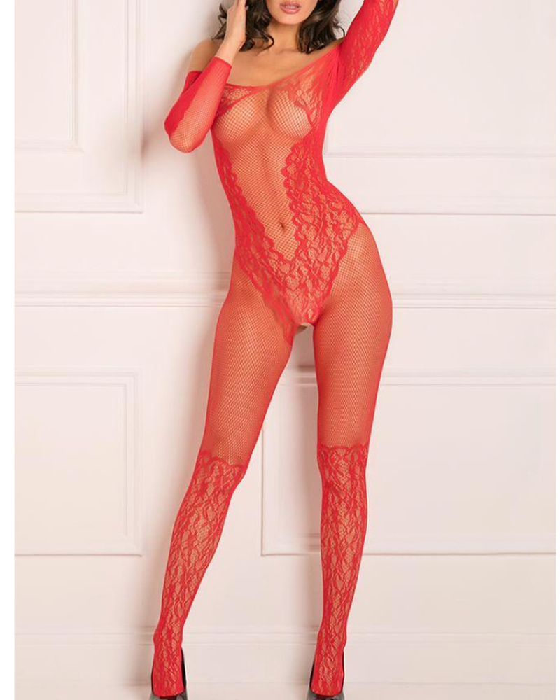 Make You Melt Red Bodystocking