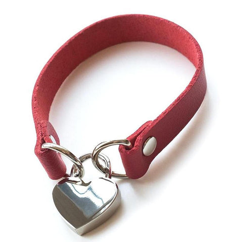 Red Leather Choker