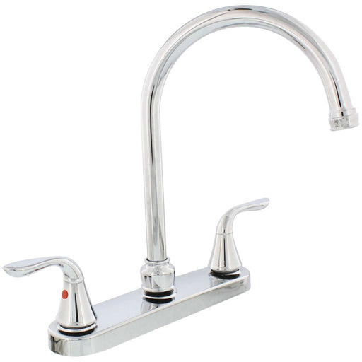 AquaPlumb(R) 1558030 Chrome-Plated 2-Handle Gooseneck Kitchen Faucet