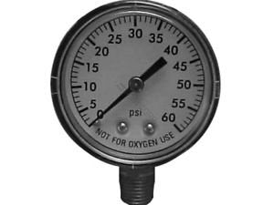 "Superpro 81060Bu Universal 2"" 0-60 Psi Pool & Spa Pressure Gauge With 1/4"" Bottom Mount"