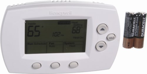 Honeywell TH6110D1021 5-1-1/5-2 day digital programmable, 1-heat/1-cool, Aato/manual change over thermostat premier white