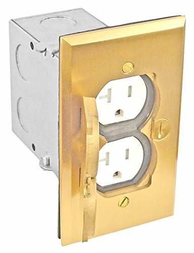 Garvin Fbcvbr-1Tr-Kit  Flush Rectangular Floor Box Kit - 20A Tamper-Resistant Receptacle - Improve Wholesale