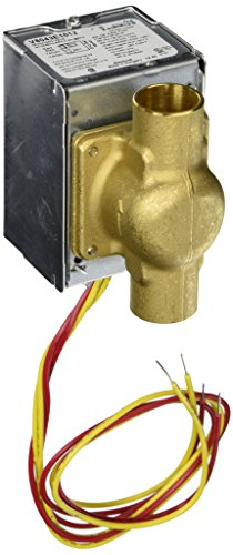 "Honeywell V8043E1012 HONV8043E1012 24V ZONE VALVE (3/4"" SWEAT, 2-POS, N/C, AUXSW W/18"" LEAD WIRES) 4 WIRES (2 RED & 2 YELLOW"
