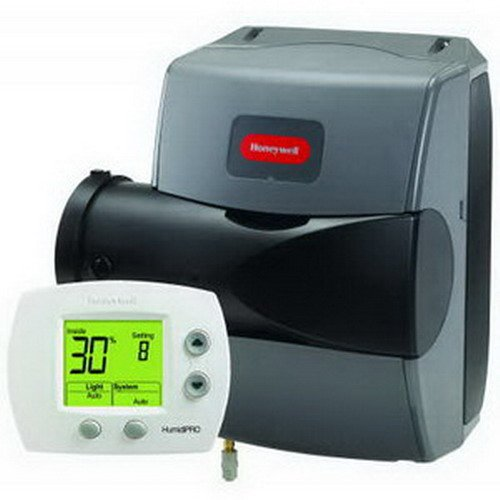 Honeywell HE200A1000 true ease basic bypass evaporative humidifier 17 GPD 20,000 cubic ft house 2,500 square feet