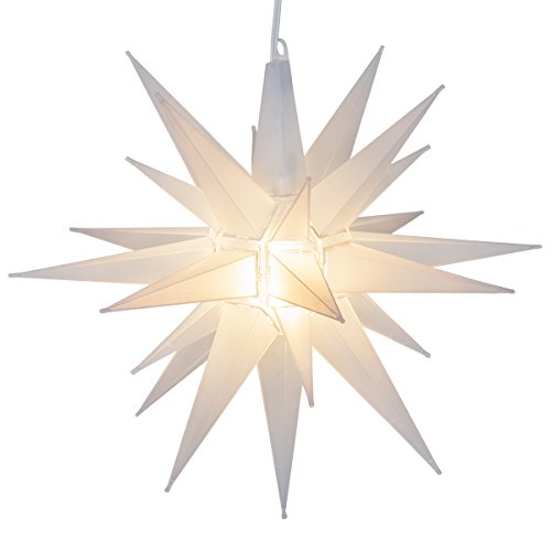 "Wintergreen P13634 14"" Clear Frosted White Led Moravian Star - Improve Wholesale"