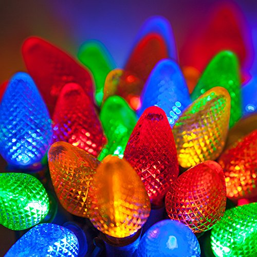 "Wintergreen 20342 C7 25 led christmas lights multi color with 8"" spacing"