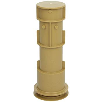"Aquastar US108 7.5"" Tan Volleyball Pole Holder Assembly"