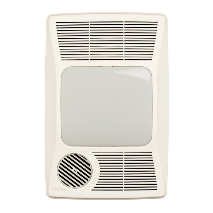 Broan 100HFL Heater/Fan/Light 100 CFM Ventilation Fan, 1500W Heater, 27W Fluorescent Light
