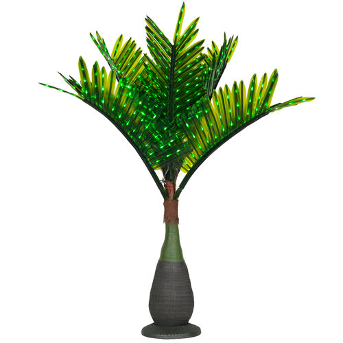 Wintergreen 21068 7.5 feet, 120v commercial bottle led palm tree, green