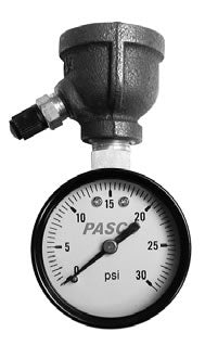 Pasco Specialty and Manufaturing Inc. 1410 fpt 0-15 psi top mount air test gauge assembly