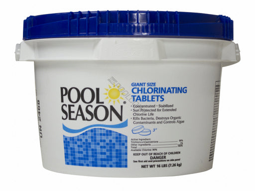 "Pool Season 12000186  16# POOL SEASON 3"" TABS"