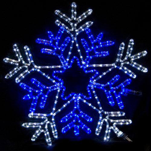 Wintergreen 18046 50 point double Star center snowflake, blue and clear incandescent lights motif