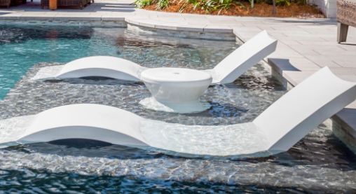 "Ledge Lounger LL-SG-C-W WHITE 0-9"" WATER CHAISE"