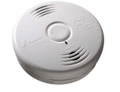 Kidde P3010B Smoke Detector, 10-Year Worry-Free DC Sealed Lithium Battery Powered for Bedroom w/Talking Voice Alarm, N