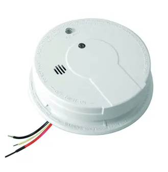 Kidde P12040 Smoke Detector, 120V Hardwired Photoelectric w/9V Back-Up Battery
