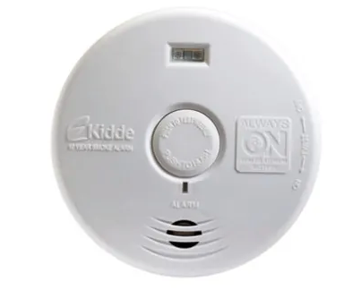 Kidde P3010H Smoke Detector, 10-Year Worry-Free DC Sealed Lithium Battery Powered for Hallway w/Lighted Escape LEDs