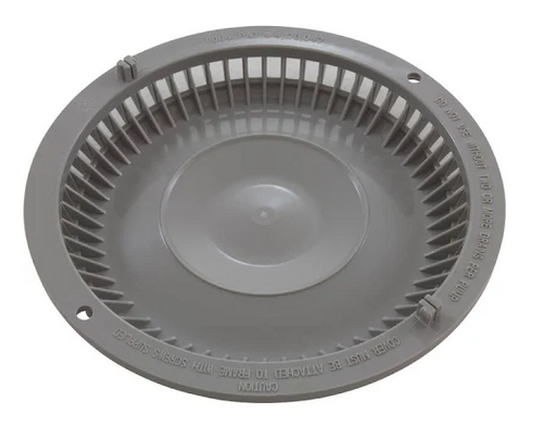 Afras Industries 11064LTGY, 7-3/8 inch anti vortex light gray drain cover