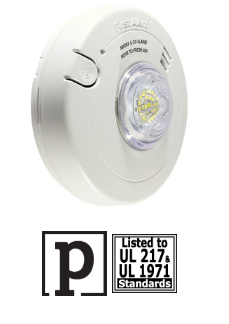 BRK 1038870  7030BSL 3-in-1 smoke/carbon/led strobe, with 10 year battery backup smoke alarm