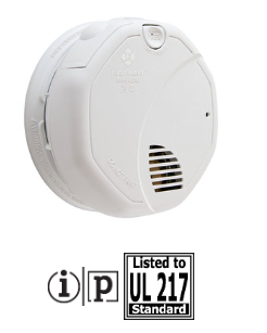 BRK 3120B 120V ac photo/ion smoke alarm with battery back up