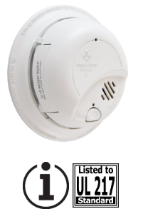 BRK 9120LBL 9V lithium 10YR backup - locked battery drawer smoke alarm