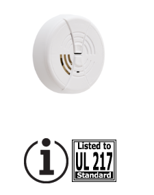 BRK FG250B Ionization smoke alarm, 9V battery powered with silence