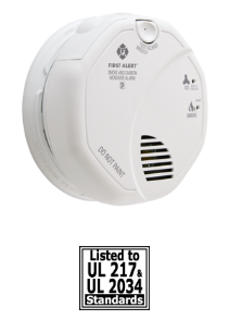 BRK SC7010B 2 silence & 2 Latching features, alkaline AA battery backup smoke alarm