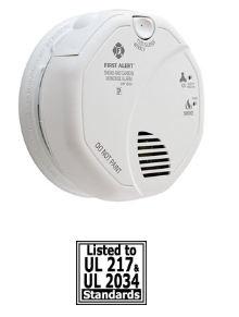 BRK SC7010BV Voice Warning, Alkaline AA Battery Backup smoke and carbon monoxide alarm
