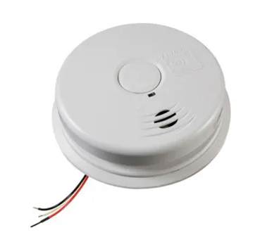 Kidde i12010S smoke detector, 120V 10-year worry-free AC/DC sealed lithium wire-In with battery back-up