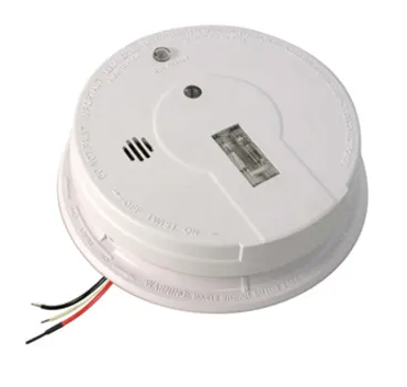 Kidde  i12080 (21006379) smoke detector, 120V hardwired ionization with hush button, battery backup & safety light