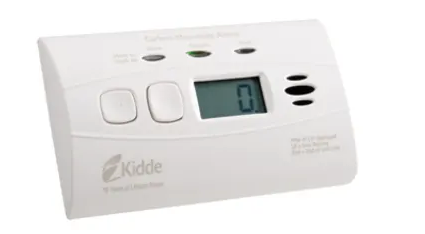 Kidde C3010D carbon monoxide detector, 10-year worry-free dc sealed lithium battery powered with digital display