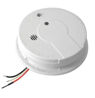 Kidde i12040 smoke detector, 120V hardwired ionization rear load with hush button, battery backup & Alarm, N memory