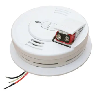 Kidde i12060 smoke detector, 120V hardwired ionization spring load battery door with hush button & Battery Backup