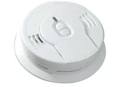 Kidde i9010 smoke detector, 9V 10-year sealed lithium battery powered with hush button