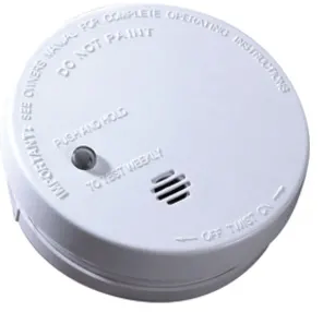 "Kidde i9040 (0914) ionization 4"" smoke alarm, 9V battery operated with mounting plate"