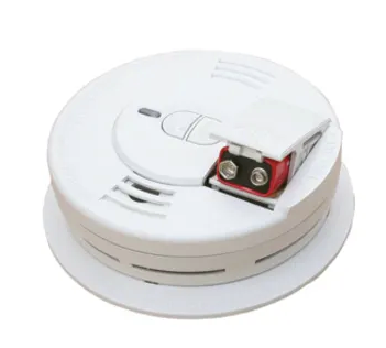 Kidde i9070 smoke detector, front load 9V battery powered ionization with hush button