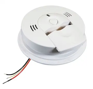 Kidde KN-COSM-IBA Carbon Monoxide & Smoke Detector, 120V Hardwired Talking w/Battery Backup