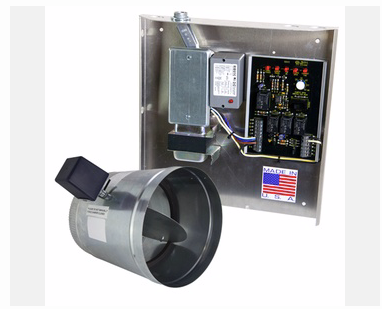 "IO HVAC Controls IO-FAVR-ENH-08 fav Panel with relay, transformer, junction box and wiring under single cover with integrated relay. includes 8"" powered open, 2 wire damper"