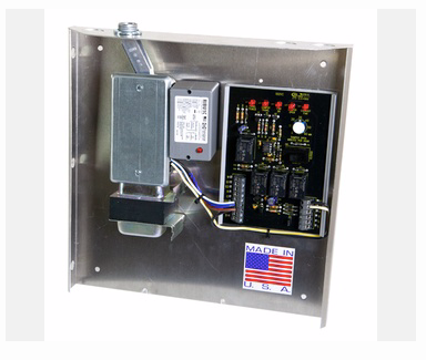 IO HVAC Controls IO-FAVR-ENHANCED fav panel with relay, transformer, junction box and wiring under single cover with integrated relay