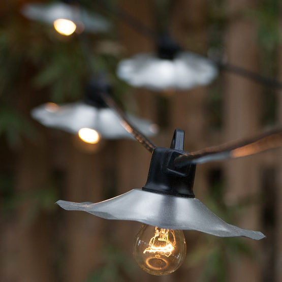 Wintergreen P13338 Commercial Clear Nickel Patio Cafe String Lights, A15 E26 Bulbs - JACE Supply