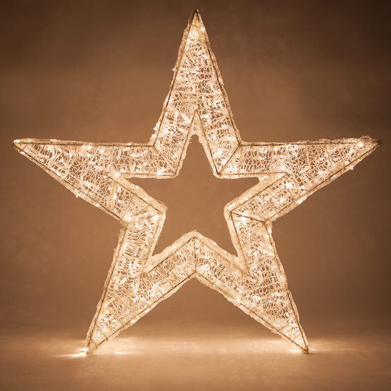 Wintergreen P14156 Warm White Led Five Point Dimensional Star - JACE Supply