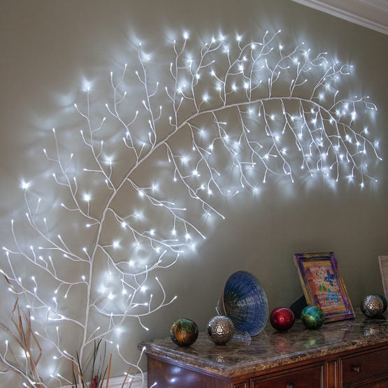 "Wintergreen 76080 white lighted climbing vine, cool white led bendable 10"" decorating branche"