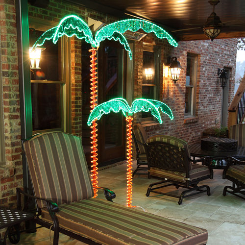 Wintergreen Deluxe Rope Light Led Palm Trees, Green 2.5 feet, 4.5 feet, and 7 feet