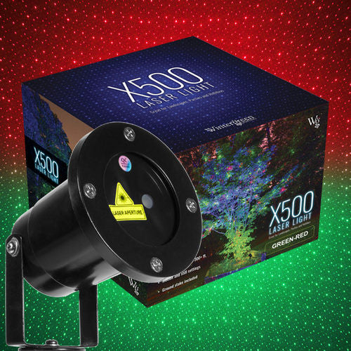 Wintergreen 73381 green / red X500 laser christmas light projector - JACE Supply
