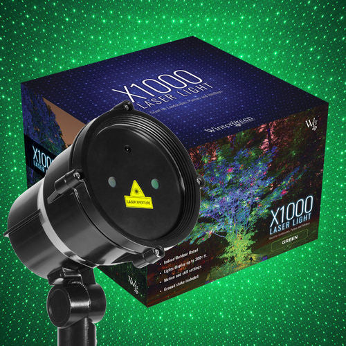 Wintergreen 73385 Green X1000 Laser Christmas Light Projector - JACE Supply