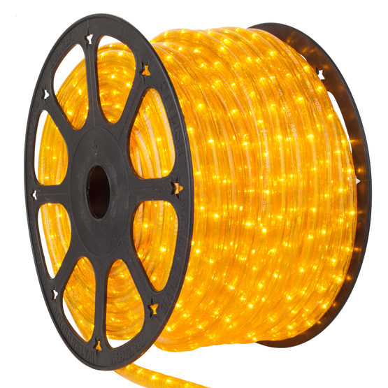 Wintergreen RL-2W-13MM-LED-YEL-L Yellow Rope Light, 120 Volt