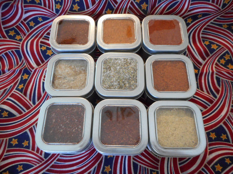 The Whole Shebang Gift Pack - 9 BBQ Barbeque Rubs In Tins
