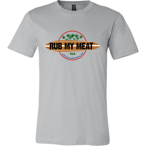 RUB MY MEAT with California Rub Kitchen Limited Edition Retro Vintage Mens T-Shirt