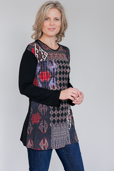 Tunic top for women with small breasts