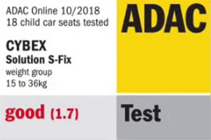 cybex solution s fix adac test